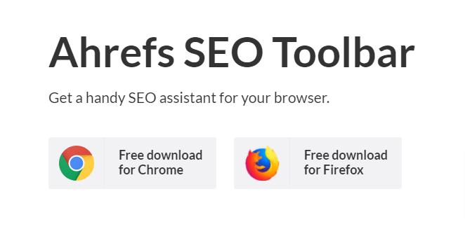 Ahref SEO Toolbar chrome extension for keyword research